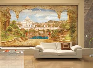 Эффект декоративных трещин на фреске. Фото