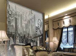 Применение потрескавшегося покрытия на фресках и фотообоях